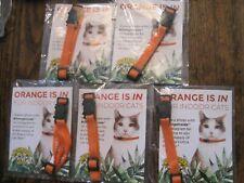 New listing New Dr Elsey'S Orange Collar Orangeinside Cat Collar Convict Project Lot Of 5