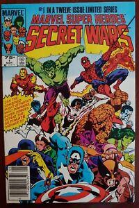 Marvel Super Heroes Secret Wars 1 High Grade Newsstand copy!  Blue Galactus!🔑💎