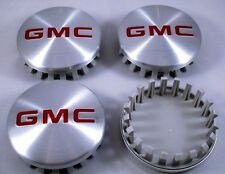 "4PCS GMC 3.25"" 83mm BRUSHED ALUMINUM Wheel Center Caps Hub Caps YEARS: 2014-2018"