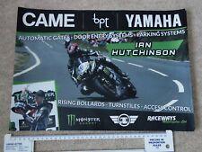 2016 Ian Hutchinson Team Traction Control YAMAHA  - Isle of Man TT Poster