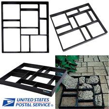 45cm 10Girds Plastic Pathmate Stone Paving Mold Concrete Walk Way Mould Paver US