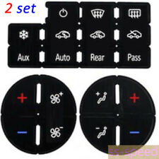 Automotive AC Button Repair kits Decal Stickers For 07-14 GM Trucks 2pcs