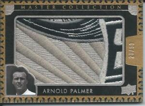 2016 UD All Time Greats Master Collection ARNOLD PALMER Logo Patch 28/50 Silver