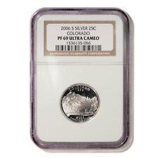 USA Colorado State Quarter 2006 S Silver Proof NGC PF 69 Ultra Cameo