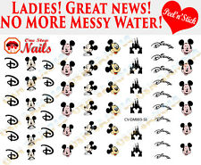 Disney Mickey Mouse Clear Vinyl PEEL and STICK Nail Decals CV-DM003-58