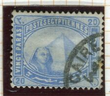 EGYPT; 1879 early classic pyramid issue fine used 20pa. value