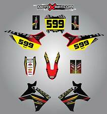 Custom graphics, full kit for Honda CRF 110 2013-2018 FACTORY style stickers