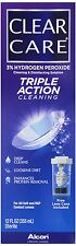 Clear Care Triple Action Lens Cleaning & Disinfecting Solution - 12 oz (3 PACK)