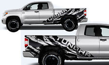 Vinyl Decal Wrap Kit TUNDRA TORN for 14-17 Toyota Tundra Double Cab MATTE BLACK