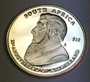 Liberia 2005 $10 Gold Coin featuring the  25th Anniversary of the Krugerrand !