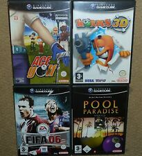 JOB LOT 4 x NINTENDO GAMECUBE GAMES Boxed Worm 3D Ace Golf Pool Paradise FIFA 06