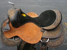 17 USED SILVER HORN SHOW WESTERN TRAIL PLEASURE REINER LEATHER HORSE SADDLE TACK