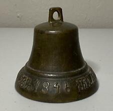 Antique Russian Nautical Ship Bell Dated 1846 Bronze 4 1/2� Tall