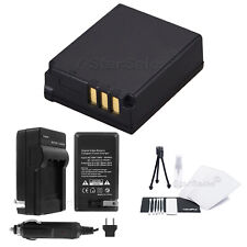 CGA-S007e Battery + Charger + BONUS for Panasonic Lumix DMC-TZ1 TZ2 TZ3 TZ4 TZ5