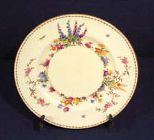 Crown Staffordshire China FLOWER GARDEN Luncheon Plate 9-1/8""