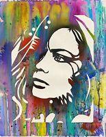 Dean Russo Art Original Artwork Woman Portrait Hand Signed Pop Art