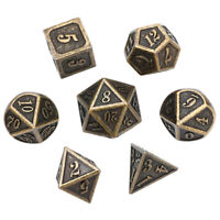 7Pcs/set Antique Metal Polyhedral D4-D20 Dice Set DND RPG MTG Role Playing Game