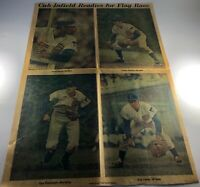 Cubs infeild newspaper from 1971 hall of fame team