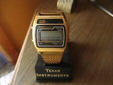 NEW Vtg Vintage Texas Instruments Alarm Chrono Quartz Digital Men's Watch