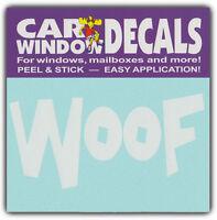 Car Window Decals: WOOF | I Love Dogs | Stickers Cars Trucks Glass