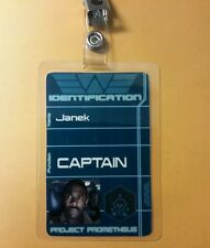 Aliens/Prometheus Id Badge-Captain Janek Photo Cosplay prop costume