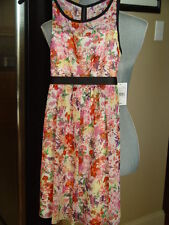 Ruby Rox New Girls Dress Size 12 Pink floral sleeveless lined ribbon belt GD13