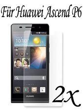 Huawei Ascend P6 /// 2x Schutz für Bildschirm Displayfolie Schutzfolie huwai