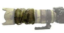 ZOOM COVER : MESH Fits all large telephoto lenses Canon Nikon Sigma : Green camo