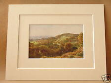 ST. CATHERINE'S CHAPEL Nr GUILDFORD SURREY VINTAGE DOUBLE MOUNTED 1912 PRINT