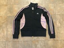 Adidas Women's Track Jacket Three Stripe Gray Pink  M