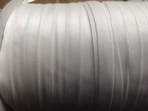WHITE Double Sided satin edged RIBBON 8mm x 1000 metre rolls