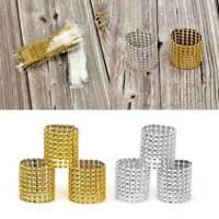 50pcs Bling Diamond Rhinestone Mesh Wrap Napkin Ring Chair Band Wedding Decor