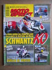 MOTOSPRINT n°11  1994       [Q19] TEST YAMAHA FZR 600 R HONDA CBR 600 F