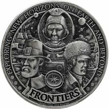 2020 Frontiers Series - Pilgrims 1 oz silver PRE-SALE USA Antiqued Round HR Coin