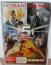 5 Movie DVD Collection-HITMAN,MAX PAYNE, JUMPER, DIE HARD, BABYLON A.D BRAND NEW