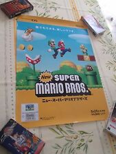 NEW SUPER MARIO BROS NINTENDO DS B2 SIZE OFFICIAL JAPAN POSTER!