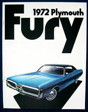 Prospectus brochure 1972 plymouth Fury (usa)