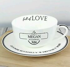 Personalised Full Of Love Cup & Saucer Set Christmas Gift For Her