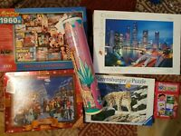 Job Lot 6 x 3000/500 Piece Jigsaw Puzzles WADDINGTON RAVENSBURGER FREE P&P