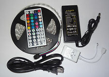 16.4FT 5M 5050 RGB SMD LED Waterproof Flexible Strip 300 LEDs + 44 Key IR Remote