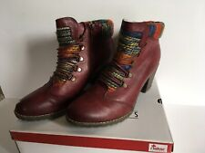 LADIES RIEKER ANTISTRESS ANKLE BOOTS. GREAT CONDITION. RED. SIZE 7 1/2 / 41