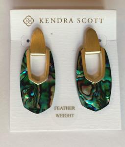 Kendra Scott Gold-Plated Kailyn Drop Earrings in Abalone