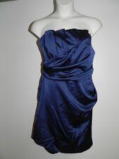 Davids Bridal Dress Plus Size 24 Marine Navy Crumb Strapless Bridesmaid NWT
