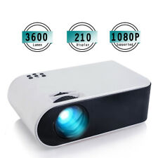 Projector (1080P, 3600 lumen, 210 inch),  Portable Projector for Home Theater