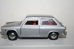 MEBETOYS A-5 AUTOBIANCHI PRIMULA DIECAST CAR-1/43-NICE-SILVER-MADE IN ITALY