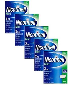 Nicotinell Mint 2mg Compressed Lozenge 144 pieces x 5 (720 Lozenges)