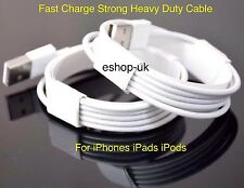 2 x 3M Fast Charger Heavy Duty USB Lead Cable For 8-Pin iPhone 7 6 6S 5 5S iPad