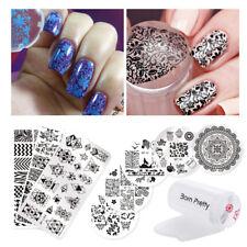 10Pcs Set Born Pretty Fashion Nail Art Stamping Plates & Stamper & Scraper Tools