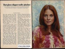 "1970 TV ARTICLE~LESLIE WARREN~SVELTE LADY SPY 'CINNAMON"" MISSION IMPOSSIBLE"