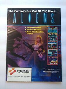 Konami Aliens Magazine Trade AD Retro Gaming Vintage 1990 Space Age Sci-Fi